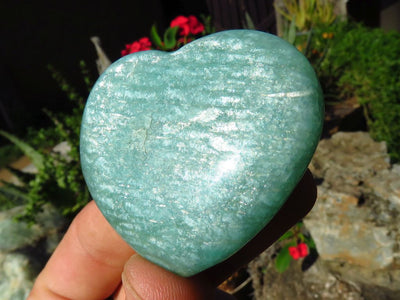 Polished Selected Colour Amazonite Hearts x 24 from Madagascar