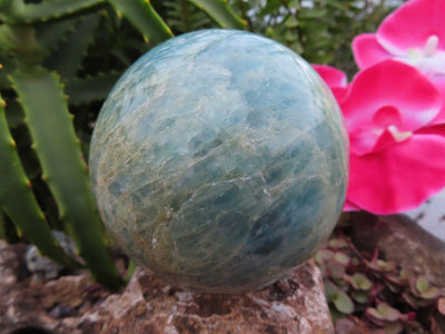 Polished Aquamarine Sphere x 1 from Angola
