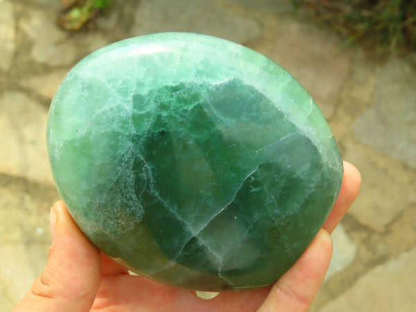 Polished Emerald Fluorite Standing Display Free Forms x 2 from Madagascar