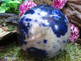 Polished Sodalite Ball x 1  from Namibia