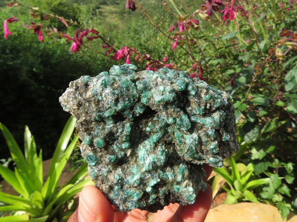 Natural Green Emeralds In Matrix x 4 From Zimbabwe