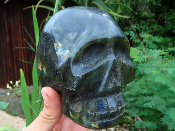 Polished Large Labradorite Sculpted Skull x 1 from Madagascar