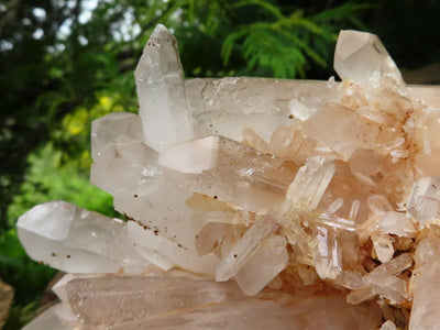 Natural Double Terminated Quartz Cluster x 1 from Ambatfinhandra, Madagascar