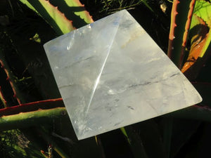 Polished XL Girasol Pearl Quartz Pyramid x 1  from Madagascar