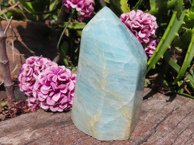 Polished Aquamarine Quartz Crystal Point x 1 from Angola