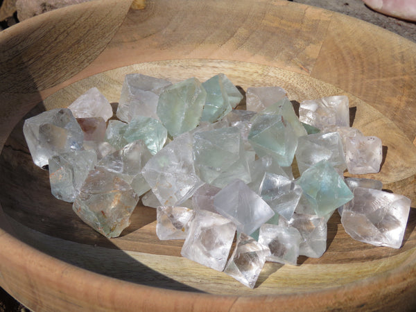 Natural XX Rare Fluorite Bipyramidal Octahedron Fluorite Crystals - sold per 1 Kg  from Riemvasmaak, South Africa