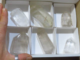 Polished Mixed Exceptional Quartz Crystals x 6 from Madagascar - TopRock