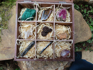 Natural Boxed and Labelled Mineral Collection Kit x 1