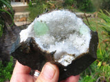 Natural Good & A Grade Prehnite Specimens x 2 from Tafelkop, Namibia