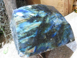 Polished Large One Sided Labradorite Pieces x 6 from Tulear, Madagascar - TopRock
