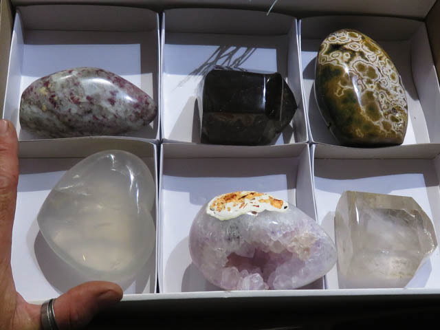 Polished Mixed Large Collectable Items x 6 from Madagascar