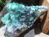 Natural Emerald Green Fluorite Octahedron Specimen x 1  from Northern Cape, South Africa