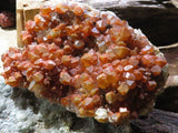 Natural XL Tangerine Quartz Plate x 1  from Congo