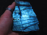Polished One sided Labradorite Pieces x 6 from Tulear, Madagascar