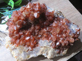 Natural Tangerine Quartz Cluster x 1 from Congo