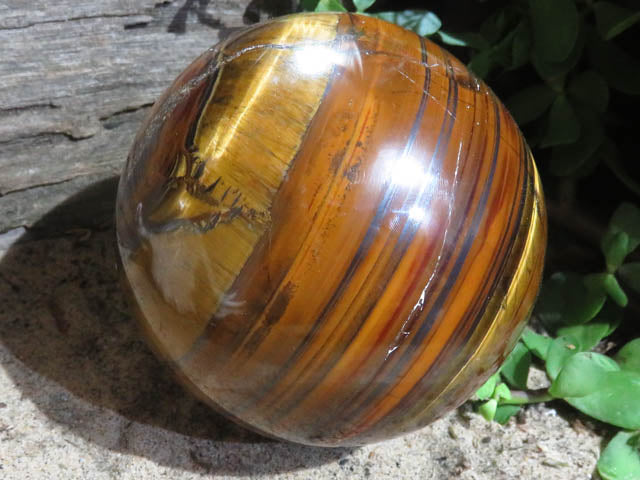 Polished Red Banded Tigers Eye Ball x 1  from Northern Cape, South Africa