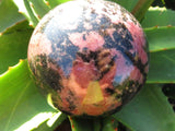 1 Large polished rhodonite ball - TopRock