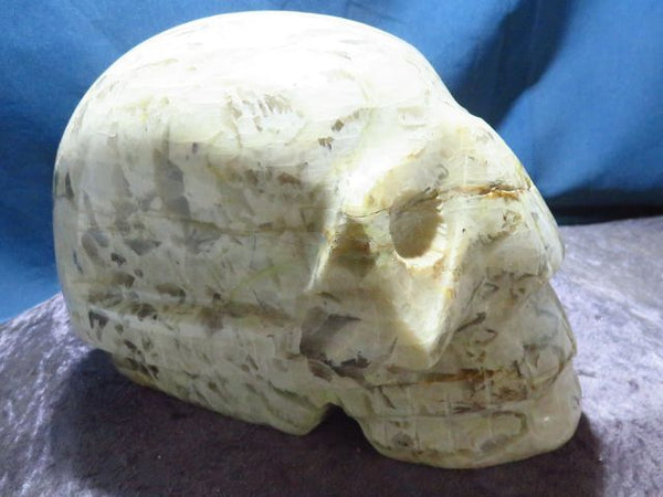 Polished Feldspar Skull Carving x 1 from Madagascar - TopRock