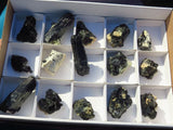 Natural Black Schorl Specimens x 18 from Namibia, Erongo