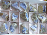 Natural Blue Agate Geodes x 15 from Malawi