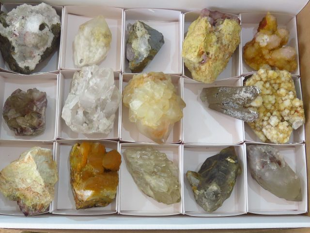 Natural Mixed Quartz Clusters x 15 from Mixed Localities