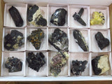 Natural Black Tourmaline Specimens x 15 from Namibia, Erongo