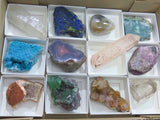Polished and Natural mixed pieces x 12 from Mixed Localities - TopRock