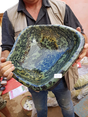 PRE-ORDER: Polished Exceptional XL 15 Kg Nebula Stone / Khambamba Jasper Bowl x 1  from Madagascar