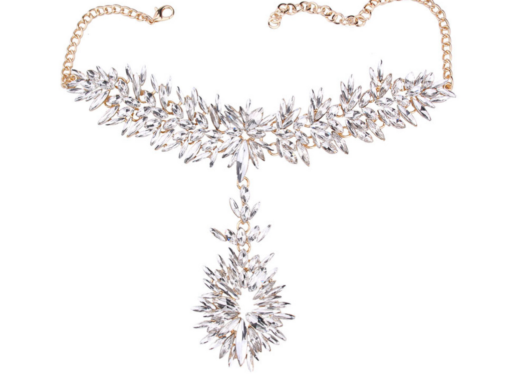 Clio Crystal Statement Chocker Neckpiece
