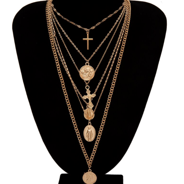 Rosarie Layered Multiple Necklace Collection