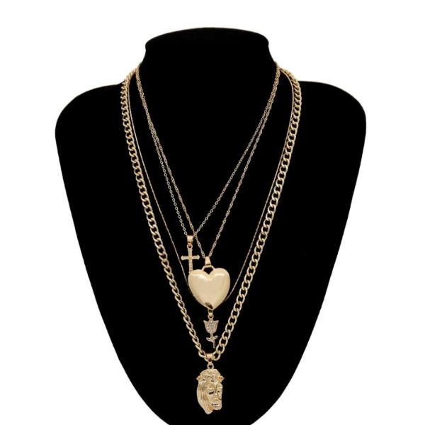 Monte Kristo  Layered Multiple Necklace