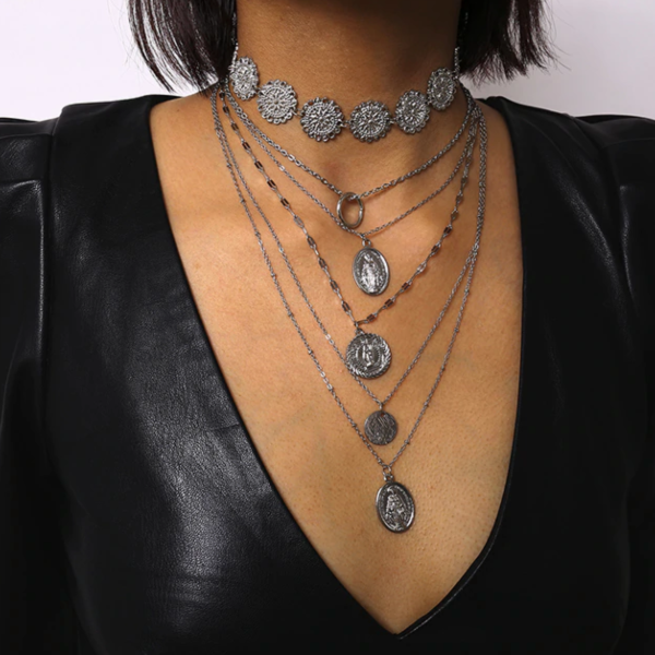 Mary Layered Multiple Necklace