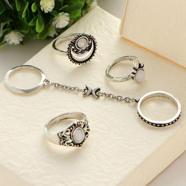 Tibetan Chain Ring Set