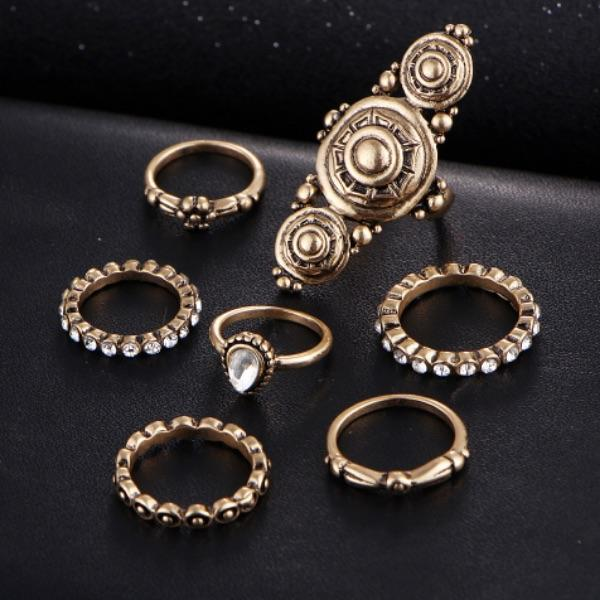Carve Me Free Ring Set (7 Pieces)