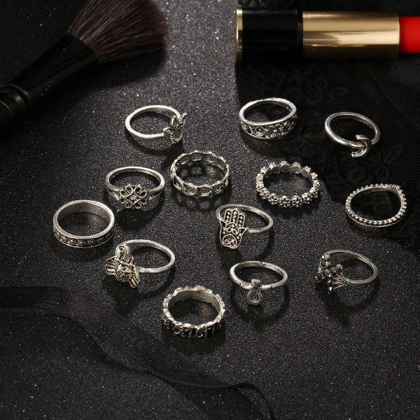 Mantra Boho Ring Set (13 Pieces)