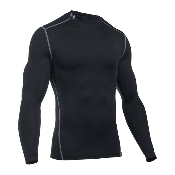 UNDER ARMOUR Mock / Lupetto ColdGear Manica Lunga COMPRESSION (Nero)