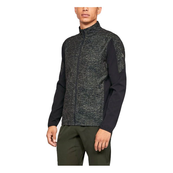 UNDER ARMOUR Giacca Antivento / Antipioggia UA STORM OUT&BACK PRINTED JACKET (Military Green / Black)