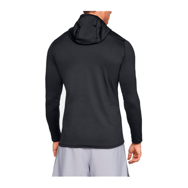 UNDER ARMOUR Maglia Manica Lunga con Cappuccio COLDGEAR FITTED HOODIE (Nero)