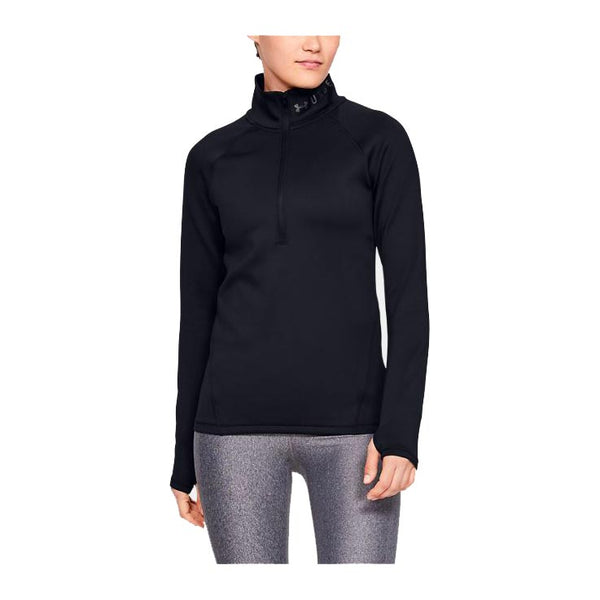 UNDER ARMOUR Maglia ColdGear Armour Manica Lunga 1/2 Zip (Nero) [W]