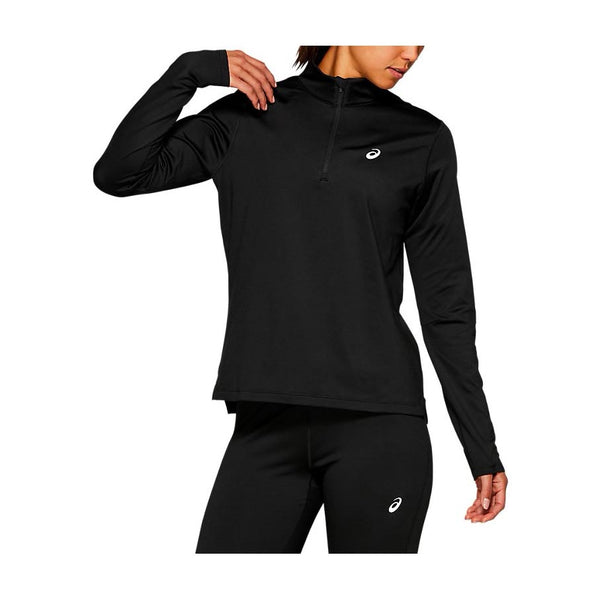 ASICS Maglia Manica Lunga SILVER LS 1/2 ZIP WINTER TOP (Black) [W]