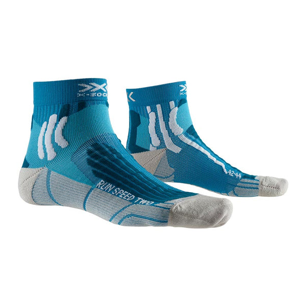 X-BIONIC / X-SOCKS Calze Running RUN SPEED TWO SOCKS 4.0 (Teal Blue/Pearl Grey)