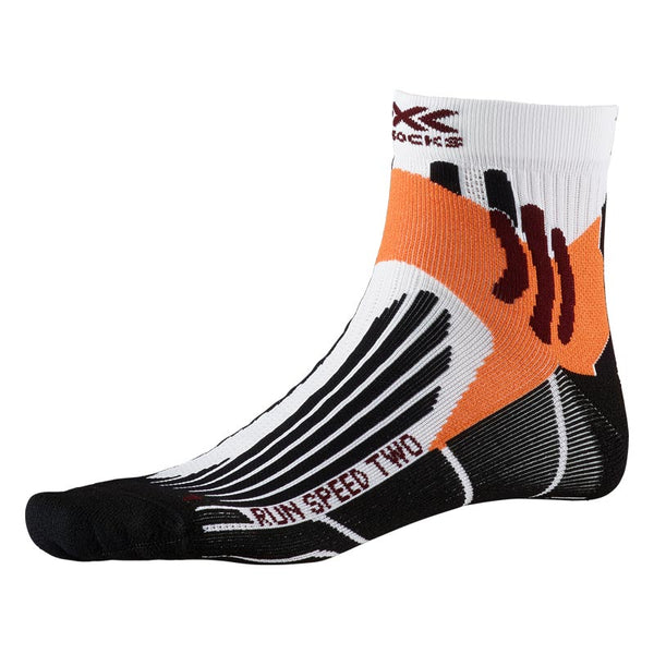 X-BIONIC / X-SOCKS Calze Running RUN SPEED TWO SOCKS (Artic White/Opal Black/Orange)