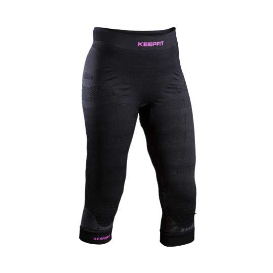 BV SPORT Pantalone 3/4 KEEPFIT Anti-Cellulite (Nero)