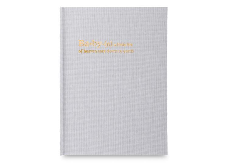 Chapters Baby Book - Gray (OUTLET) - Chapters