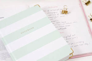 Chapters Notebook - Mint & White (OUTLET) - Chapters