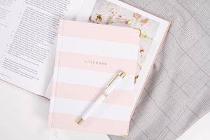 Chapters Notebook - Pink & White Notebook Chapters