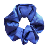 Blue Satin Scrunchie