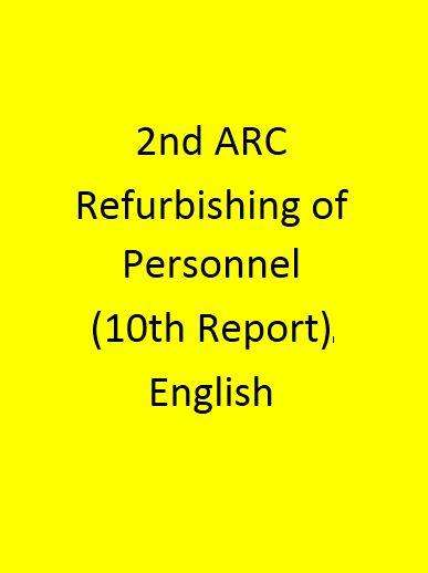 2nd ARC Refurbishing of Personnel Administration (10th Report) - English