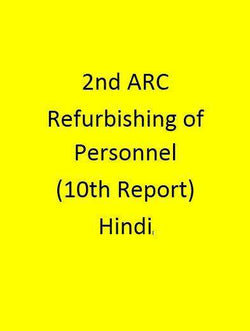 2nd ARC Refurbishing of Personnel Administration (10th Report) - Hindi