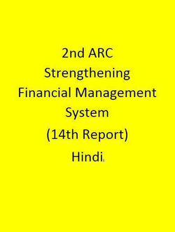 2nd ARC Strengthening Financial Management System (14th Report) - Hindi